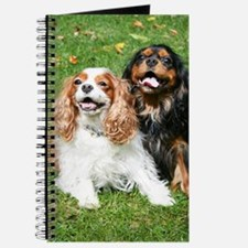 Happy Cavalier King Charles Spaniels Small Journal