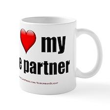 I Love My Life Partner lightapparel Small Mug