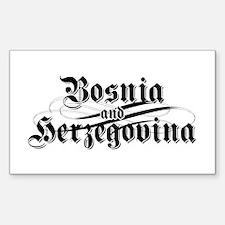 Bosnia & Herzegovina Rectangle Decal