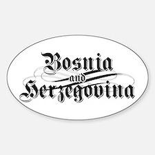 Bosnia & Herzegovina Oval Decal
