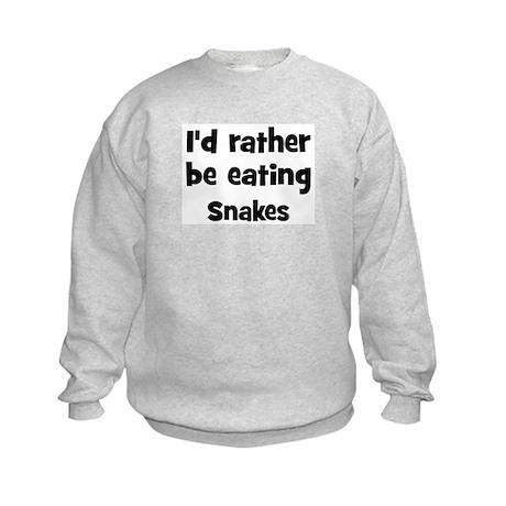 Rather be eating Snakes Kids Sweatshirt