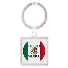 Hecho En Mexico - Con Bandera - Ma Square Keychain