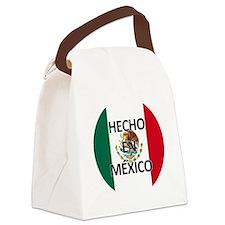 Hecho En Mexico - Con Bandera - M Canvas Lunch Bag