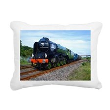 Flying Scotsman - Steam  Rectangular Canvas Pillow