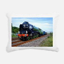 Flying Scotsman - Steam  Rectangular Canvas Pillow