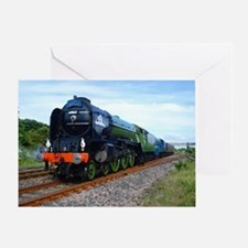 Flying Scotsman - Steam Train Greeting Card