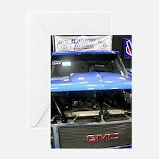 GMC Under The Hood Racing Truck Greeting Card