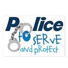 Serve And Protect Postcards (Package of 8)