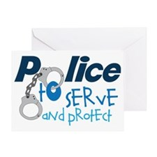 Serve And Protect Greeting Card
