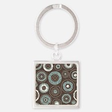 Circles Pattern Square Keychain