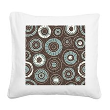 Circles Pattern Square Canvas Pillow