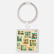 Stylish Square Pattern Square Keychain