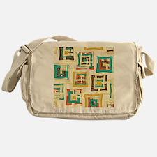 Stylish Square Pattern Messenger Bag