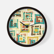Stylish Square Pattern Wall Clock