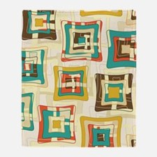 Stylish Square Pattern Throw Blanket