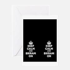 Keep Calm and Bikram On Greeting Card