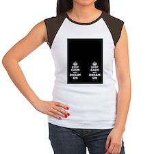 Keep Calm and Bikram On Women's Cap Sleeve T-Shirt
