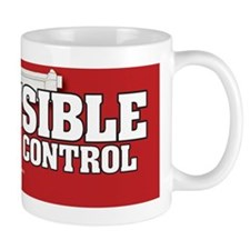 Be Sensible About Gun Control Sticker Mug