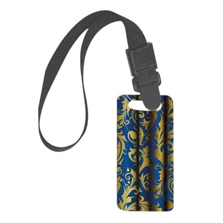 Golden Curtains 1 Small Luggage Tag