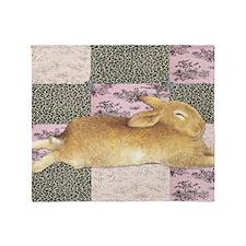 Sleepy Bunny Elongated Throw Blanket