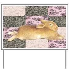 Sleepy Bunny Elongated Yard Sign