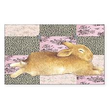 Sleepy Bunny Elongated Decal