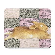 Sleepy Bunny Elongated Mousepad