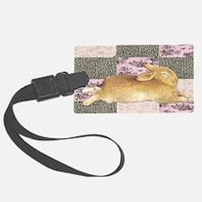 Sleepy Bunny Elongated Luggage Tag