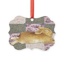 Sleepy Bunny Elongated Ornament