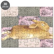 Sleepy Bunny Elongated Puzzle