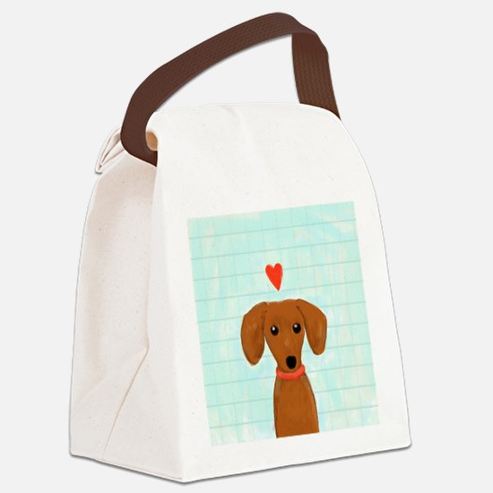 doxielovetile Canvas Lunch Bag