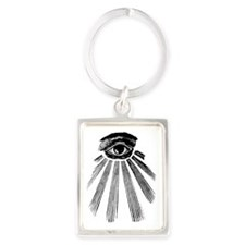 ALL SEEING EYE - BLACK Portrait Keychain