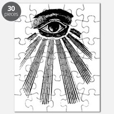 ALL SEEING EYE - BLACK Puzzle