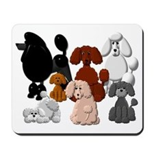 TINY POODLE PACK COLLAGE Mousepad