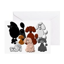 TINY POODLE PACK COLLAGE Greeting Card