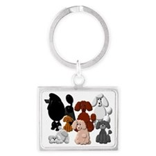 TINY POODLE PACK COLLAGE Landscape Keychain
