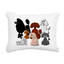 TINY POODLE PACK COLLAGE Rectangular Canvas Pillow