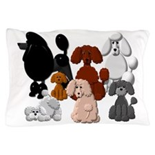 TINY POODLE PACK COLLAGE Pillow Case