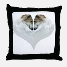 ZoiHeartNatural Throw Pillow