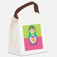 Matryoshka Blanket Canvas Lunch Bag