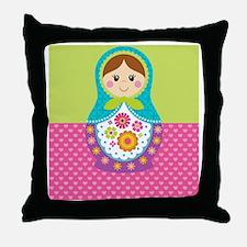 Matryoshka Blanket Throw Pillow