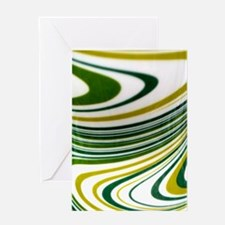 Green Swirl Greeting Card