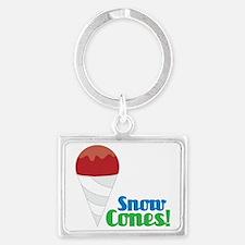 Snow Cones Landscape Keychain