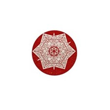Attractive Red Star Design Mini Button