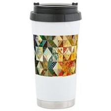 Fun Patchwork Quilt Travel Coffee Mug