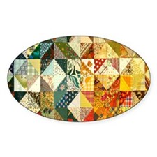 Fun Patchwork Quilt Decal