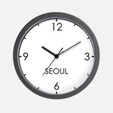 SEOUL World Clock Wall Clock