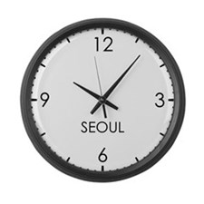 SEOUL World Clock Large Wall Clock