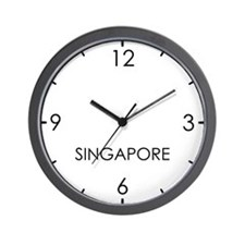 SINGAPORE World Clock Wall Clock