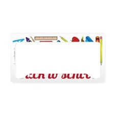 Back To School License Plate Holder